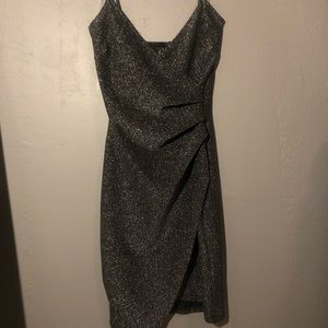 Dark grey sparkly short dress